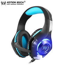 KOTION EACH GS400 Gaming Headset Gamer casque for PS4 Tablet Laptop 3.5mm Stereo PC Headphones with Microphone+Adapter Cable