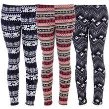dbfd06164eb4e2 Womens Winter Christmas Warm Leggings Snowflake Striped Printed Knitted Leggings  Xmas Colorful Slim Skinny Stretchy Pencil Pants
