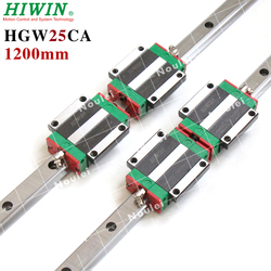 HIWIN 1200 millimetri 2pcs HGR25 Guida Lineare + 4pcs HGW25CC CNC guida di Guida Lineare Block CNC kit hgw HGW25