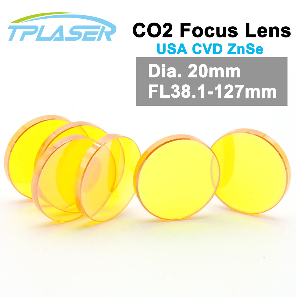 USA CVD Co2 Laser Focus Lens 20mm Diameter FL 38.1 50.8 63.5 76.2 101mm ZnSe laser Lens For Engraving And Cutting Machine стоимость