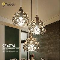 TRAZOS Современные хрустальные подвесные светильники Lamparas Красочные Утюг абажур светильника подвесные светильники для Обеденная/ресторан