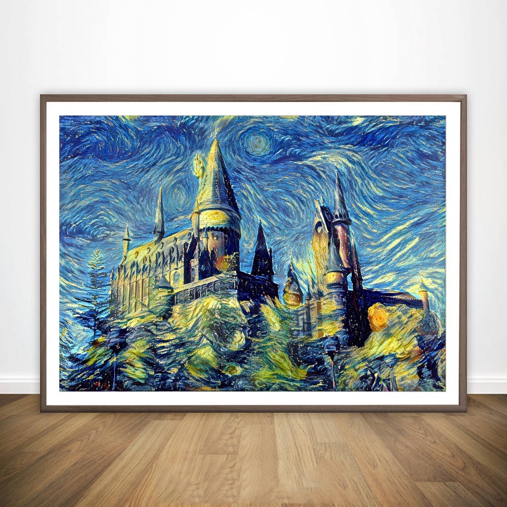 Harry Potter Poster Hogwarts Castle Movie Wall Art Paint