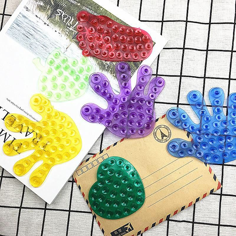 Free Shipping Toys For Children Strong Double Sided Suction Palm PVC Suction Cup Double Magic Plastic Sucker Bath Toys