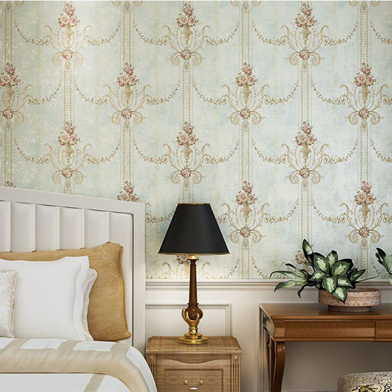 American Wall Paper for Walls Rustic Floral Wallpapers 3D Non Woven Wallpaper Roll Flower Vintage Bedroom Wall Mural Home Decor 3d modern wallpapers home decor flower wallpaper 3d non woven wall paper roll bird trees wallpaper decorative bedroom wall paper