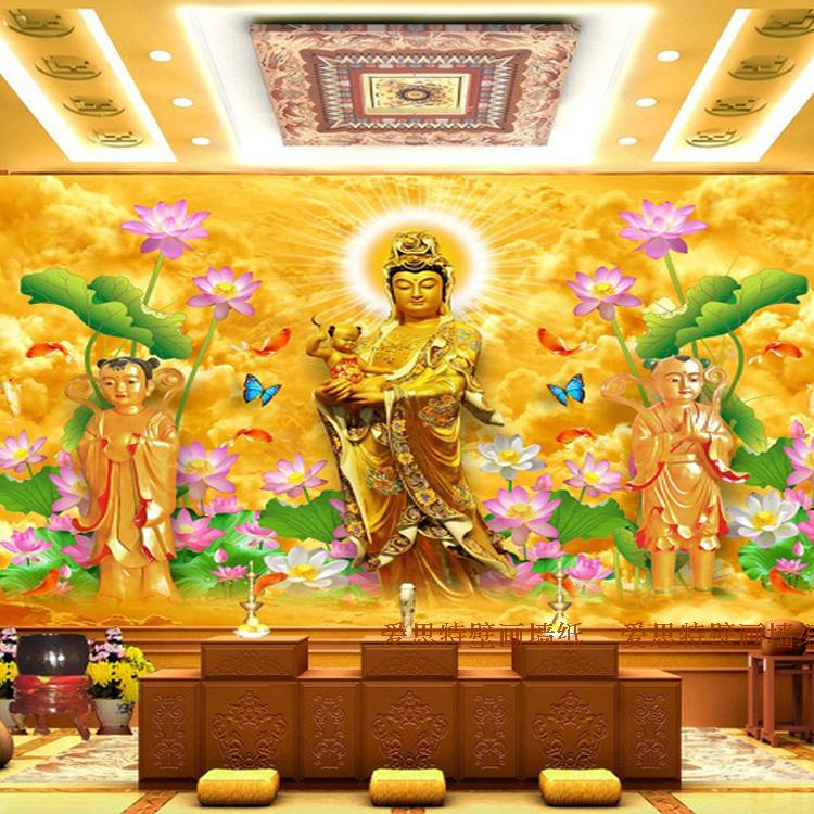 Custom photo wallpaper 3D Golden Buddha mural living room sofa TV lobby background wall bedroom bathroom wallpaper mural genuine for lenovo thinkpad e440 e540 cpu cooling fan heatsink 04x4159