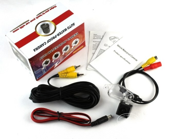 Для Mitsubishi Delica-камера заднего вида/парковочная камера/HD CCD RCA NTST PAL/светильник номерного знака