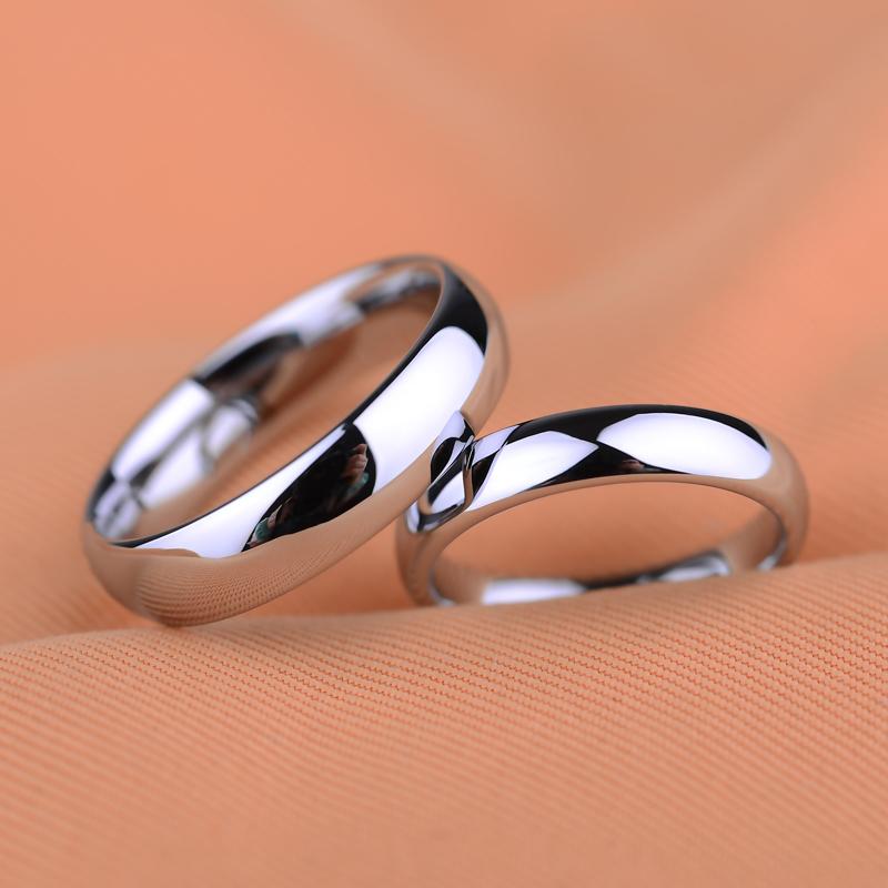 hot size 4 125 platinum plated tungsten carbide rings wedding bands for couple ringcan engravingprice is for one ring