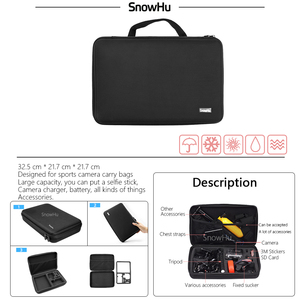 Image 4 - SnowHu For Gopro Hero Accessories Set Mount Strap Monopod For Gopro hero 9 8 7 6 5S 4  for EKEN H9 for xiaomi for yi for 4k GS42