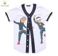 Atuwill M 3XL Boxer Unisex 3d Printed T Shirts Cool Slim Fit Hip Hop V Neck
