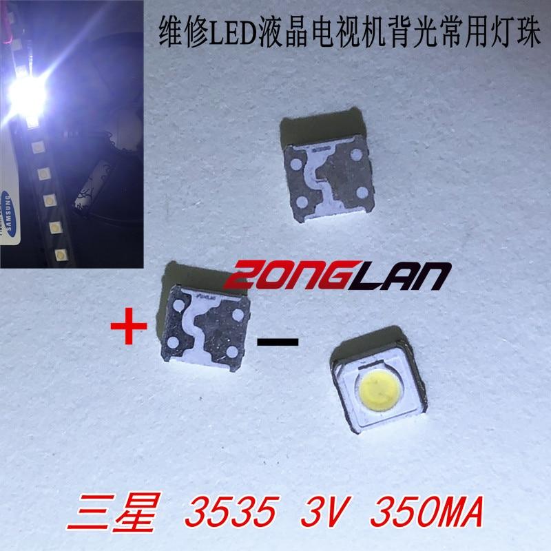 Atacado 200 pces samsung led tv retroiluminação smd 1w 3537 3535 smd led branco fresco 3v 300ma para samsung tv reparo