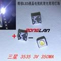 Оптовая продажа, 200 шт., светодиодная подсветка для телевизора Samsung SMD 1 Вт 3537 3535 SMD LED холодный белый 3 в ма для ремонта телевизора Samsung