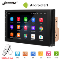 Jansite 7 inch Universal Double DIN Car Radio Android car stereo Touch screen For ford fusion Autoradio Bluetooth GPS Navigation