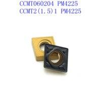 כלי קרביד כלי cnc CCMT060208 / CCMT060204 PM4225 קרביד Blade עבור כלי CNC מכונת חריטה כרסום CCMT פנימי מפנה שבבי (5)