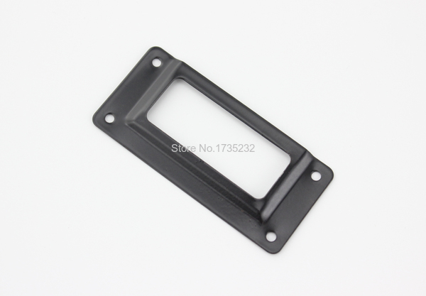 Black iron metal label frame file name card holder drawer box case black iron metal label frame file name card holder drawer box case 62x29mm tag card holder furniture sign holder metal tag frame in frame from home garden reheart Images