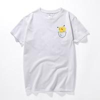 Pokemon Go T Shirt For Men Fashion Pikachu Stitch Tops Cartoon Printed Funny Shirt Short Sleeve