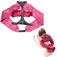 PU Leather Arm Binder Straitjacket BDSM Bondage Restraint Clothes Harness Collar Ankle Cuffs Handcuffs Cosplay Accessories Toys