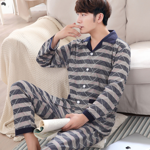 Image 4 - Yuzhenli Autumn Pyjamas Men Print Casual Plus Size Cotton Sleepwear Mens Lounge Wear Loungewear Winter Pajamas Plus XXXL