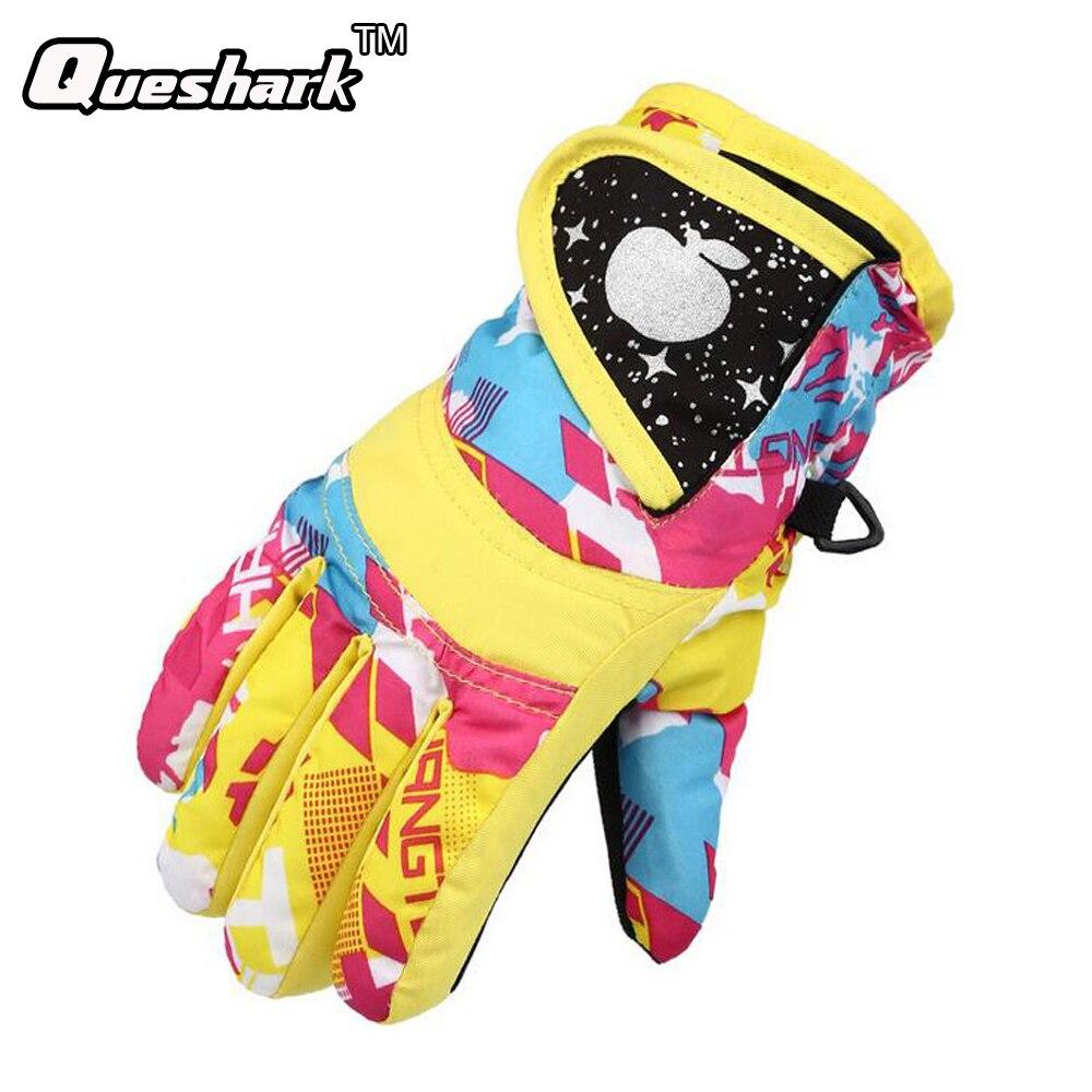 Children Winter Girls Boys Skiing Gloves Bike Cycling Warm Windproof Anti-slip Snowboard Ski Gloves