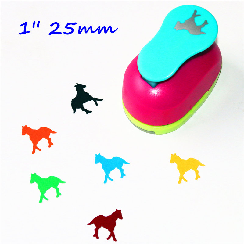 1'' Horse Scrapbooking Punches 25mm Diy Craft Hole Puncher Eva Maker Kids Scrapbook Paper Cutter Embossing Sharper