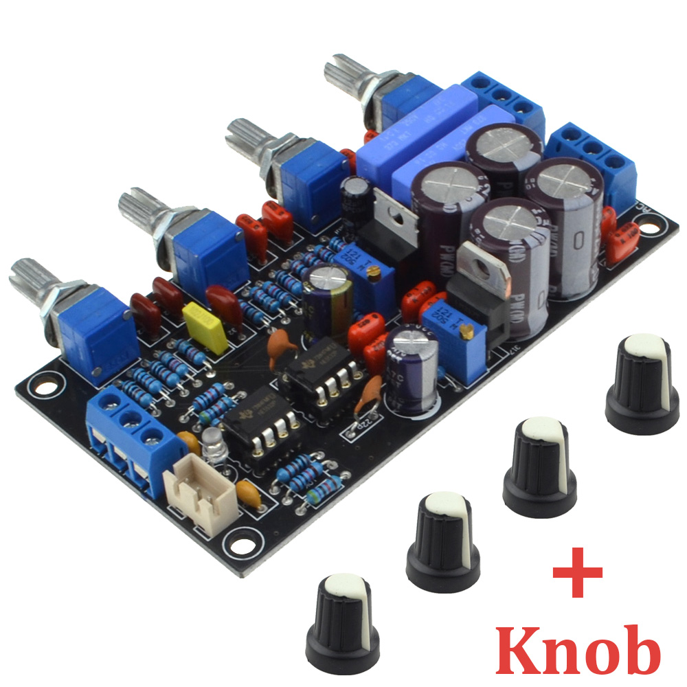 De luxe NE5532 Préamplificateur Volume Tone Conseil AC15V-0-AC15V Panneau de Contrôle Du Volume Pour Amplificateur avec Bouton Livraison Gratuite 12003204