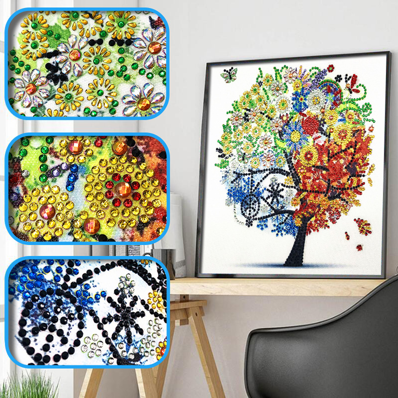 DIY 5D Diamond Embroidery Colorful Tree Butterfly Bead Diamond Painting Cross Stitch Pearl Crystal Sale Hobby Gift Decor 1 (3)