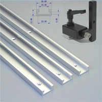 1 Set Mitra pista para y 300-800mm-Ranura T-Pista ranura Mitra de aleación de aluminio para herramienta de trabajo de carpintería