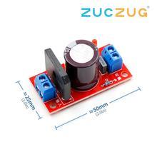 Выпрямитель фильтр плата питания 3A 8A выпрямитель с красным светодиодный индикатор переменного тока один источник питания в постоянный ток один источник