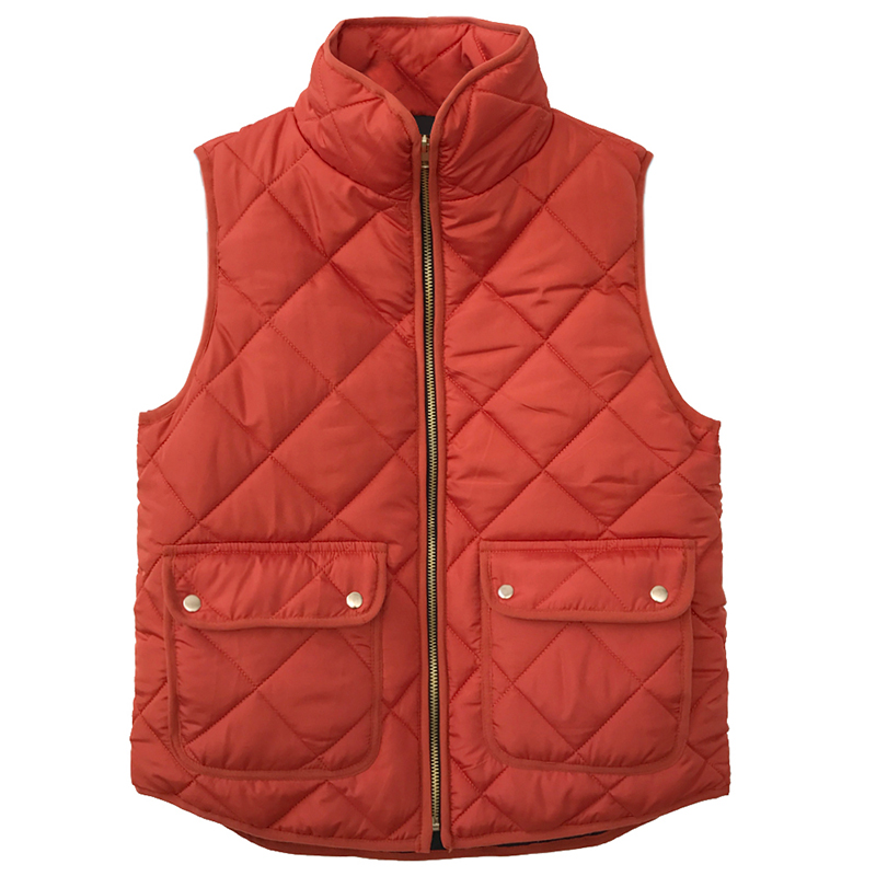 New Winter Women Sleeveless Quilted Jacket Waistcoat Vest Stand Collar Zip Up Pockets Gilet Overcoat Outwear Fashion Warm Coat