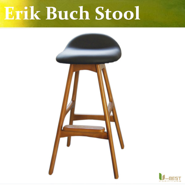 Free shipping u best replica erik buch bar stool made in ash solid wood hot seller pu leather - Erik buch bar stool ...