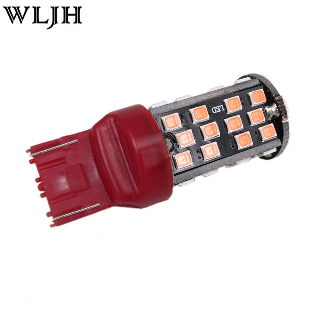 Wljh 2 stücke rote led w21w 7443 birne stop bremslicht rücklicht ...
