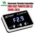 Автомобильный электронный контроллер дроссельной заслонки гоночный ускоритель мощный усилитель для Fiat Punto EVO 3J 2009-2011 Тюнинг Запчасти аксес...