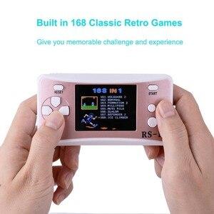 Image 4 - ES 9 2.5LCDD Palmare Console di Gioco per I Bambini Costruito in 168 Old School Giochi Retro Arcade Giocatori di Gioco del Ragazzo Di Compleanno regalo