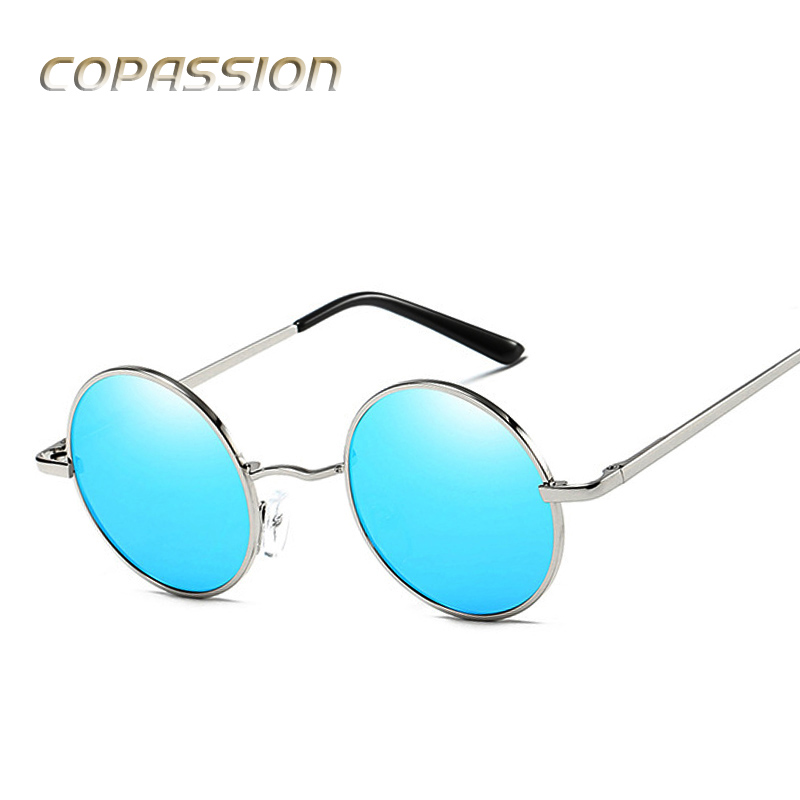 COPASSION Brand Fashion Unisex Sun Glasses Polarized Coating Mirror Driving Sunglasses Round sunglass Male Eyewear For Men Women