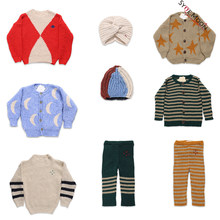 2019 New Autumn Winter BC Brand Kids Sweaters Boys Girls Fashion Print knit Cardigan Baby Children Cotton Tops Clothes(China)