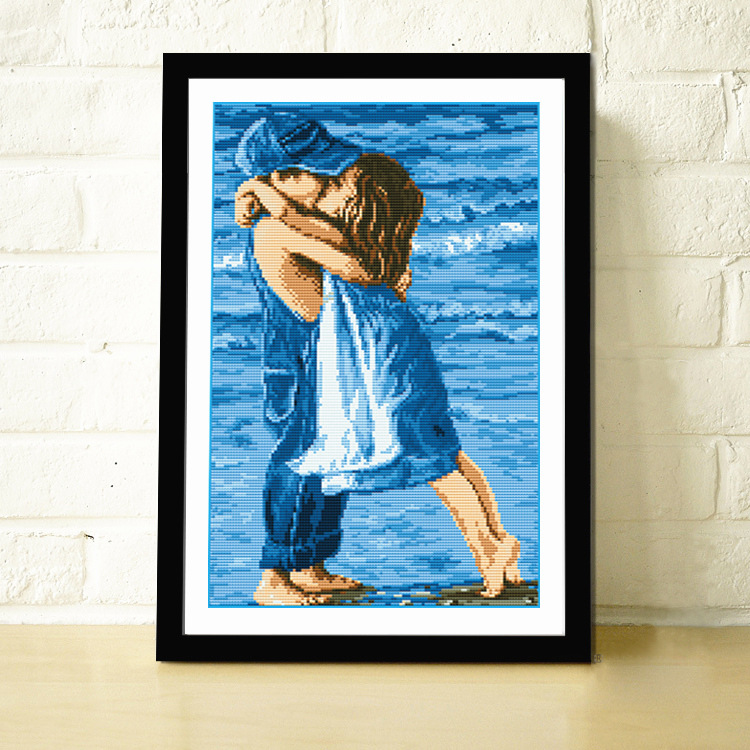 children sea kiss cartoon baby cross stitch kits fashion painting for embroidery kid printed