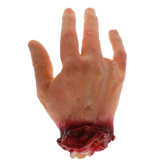 scary halloween horror props novetly toys 4 fingers bloody fake hand haunted masquerade party decoration - Scary Props