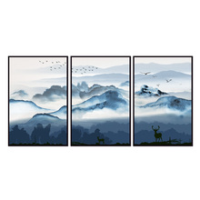 Factory wholesale (No Framed) Chinese landscape series art Canvas Print On Printing Wall Pictures 12YM-A-733