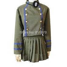 Hitman Reborn! chrome dokuro cosplay dress de las mujeres uniformes escolares anime disfraces tops falda parche en el ojo