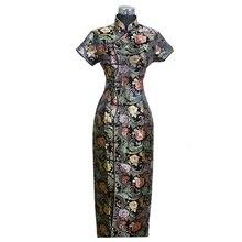 Chinês tradicional feminino longo vestido qipao cheong sam casamento vestido de noite tamanho s m l xl xxl xxxl c0001
