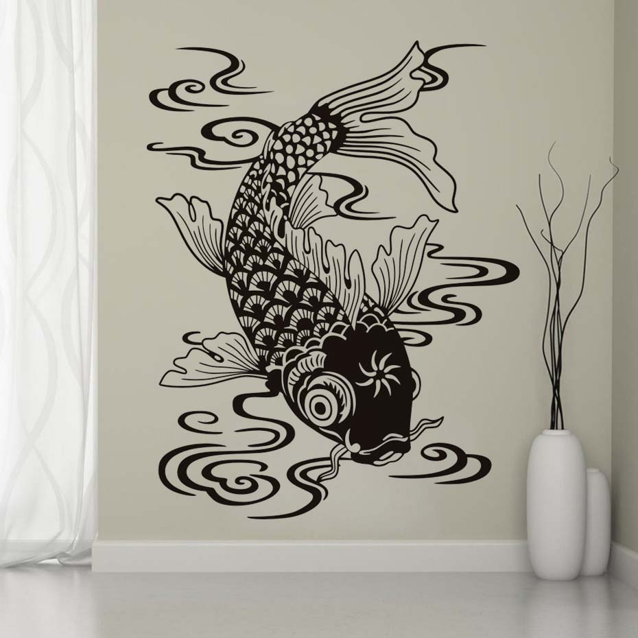 Beautiful design fish wall decal marine fish vinyl sea animals art beautiful design fish wall decal marine fish vinyl sea animals art wall stickers waterproof art decals home decoration in wall stickers from home garden amipublicfo Images