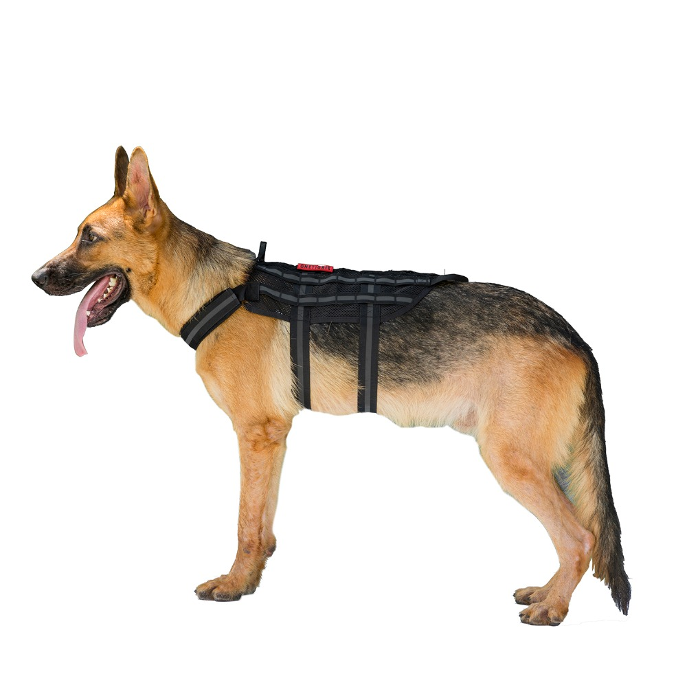 Tactical Reflective Mesh Harness for Dogs COMER FARER K9 Mesh Harness Training Vest Harness For for Walking The Dog