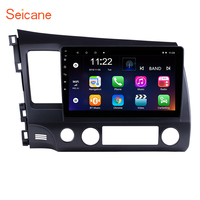 Seicane 10.1 inch Android 7.1/ Android 8.1 Car GPS Navigation Radio Unit Player for 2006 2007 2008 2009 2010 2011 Honda Civic