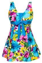 Для женщин Плавание одежда ванный комплект Push Up Плавание костюм Одна деталь Плавание платье Голубое озеро