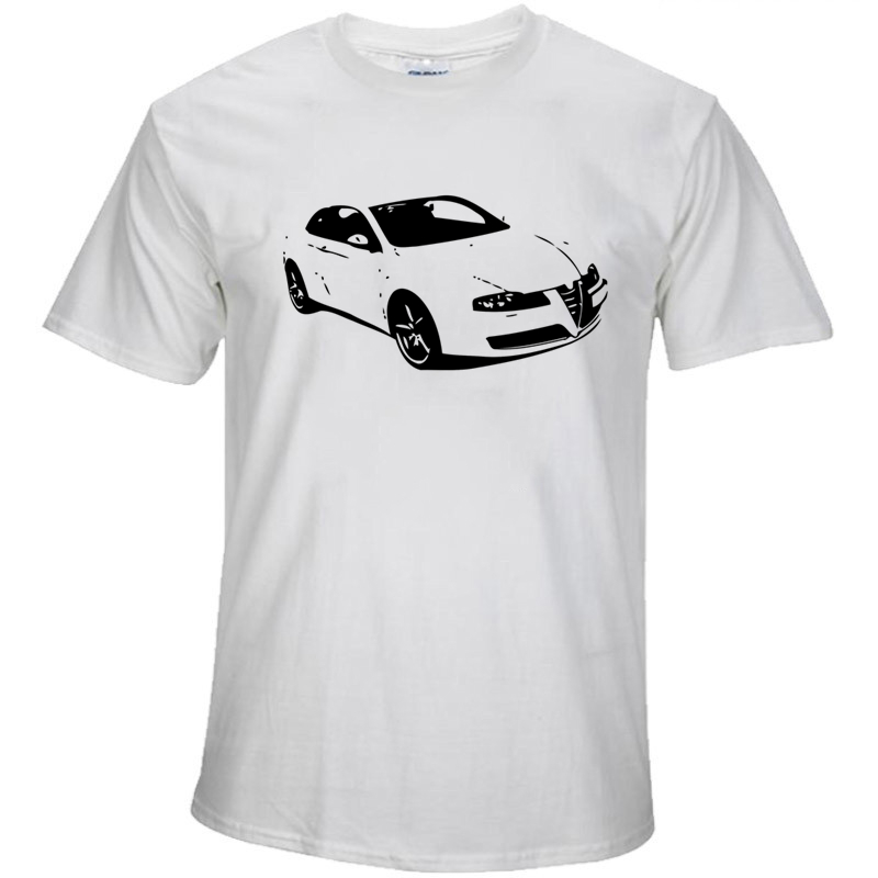 Tshirt Funny Short Sleeve Cotton Plus Size font b Alfa b font font b Romeo b