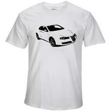 Tshirt Funny Short Sleeve Cotton Plus Size Alfa Romeo 159 Sportwagon Turbo Evoluzione Rosso Men's T-shirt Top Clothes XS-XXL