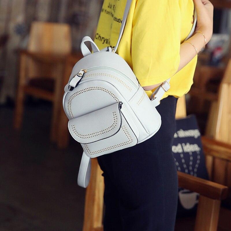 New Design Mini Rivets Backpack For Women Girls 2017 Children School Bag Women Backpack Mochila Escolar Female Rucksack (11)