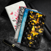 Butterfly Painting Flip cell Phone Case For BQ Aquaris X Pro Stand Wallet PU Leather + Soft TPU Cover Coque