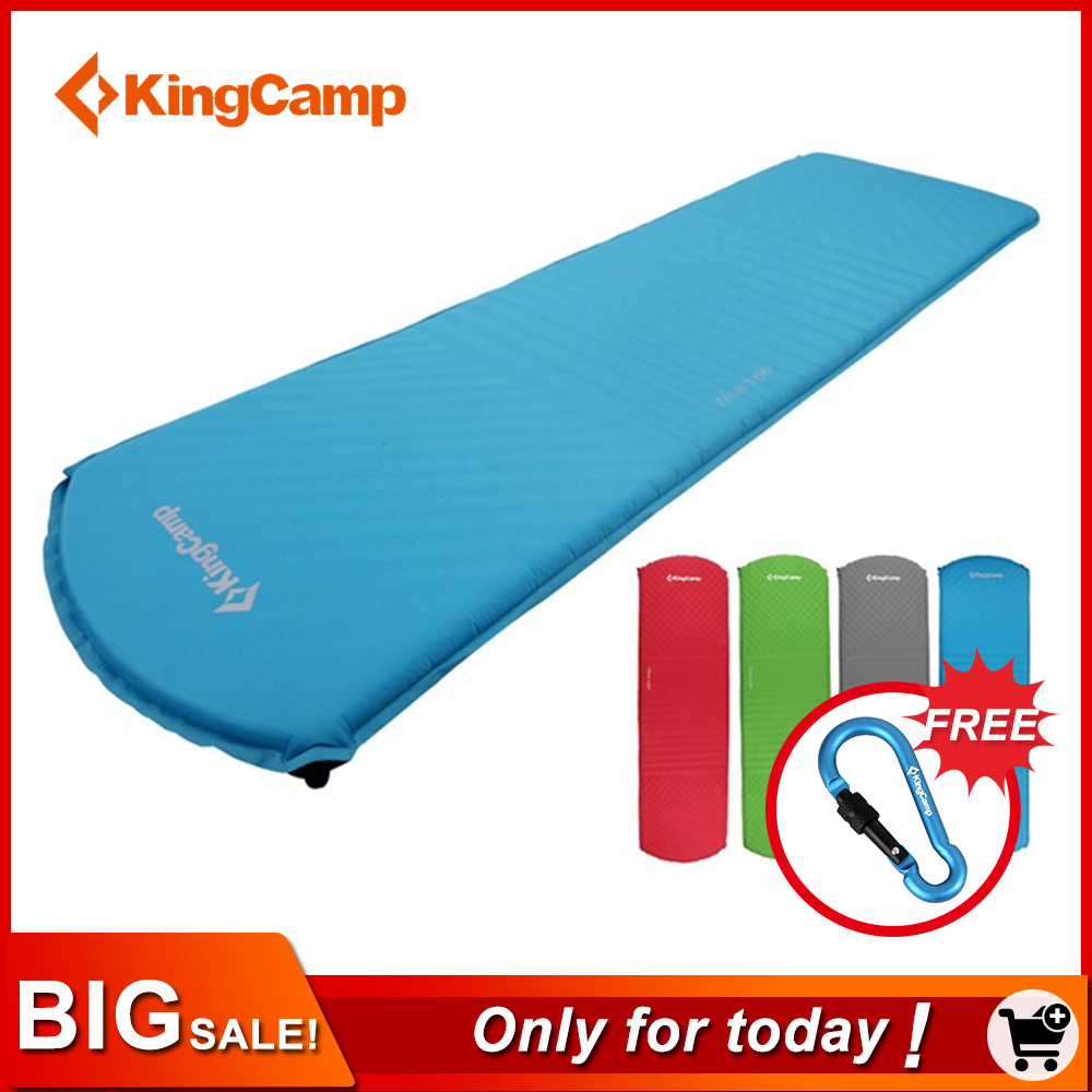 KingCamp Sleeping Pad Mattress Ultralight Self-Inflating Moisture Proof Camping Mat Pad Portable For Beach Outdoor Hiking Mats цены онлайн