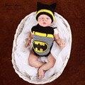 Boy de punto recién nacido 0-3month batman super man spider man trajes fotografía atrezzo ganchillo hecho a mano infantil traje de superhéroe