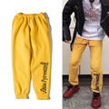 2016 Winter Gosha Rubchinskiy Brand Clothing 1:1 High Quality Joggers Sweatpants Pantalon Men Women Rowa Hip Hop Yellow Pants